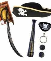 Verkleedset kinderen piraten set hoed met accessoires 10278249
