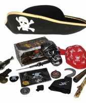 Verkleedset kinderen piraten set hoed wapens en accessoires