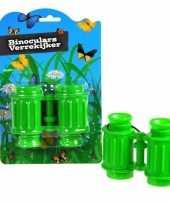Voordelige speelgoed verrekijker groen voor kinderen