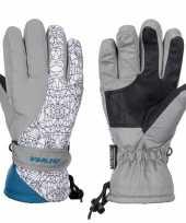 Winter handschoenen starling mirre grijs wit voor kinderen