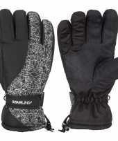 Winter handschoenen starling mirre zwart wit voor kinderen