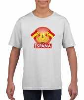 Wit spanje supporter kampioen shirt kinderen