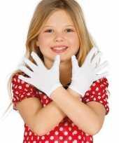 Witte verkleed handschoenen voor kinderen