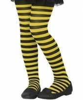 Zwart gele verkleed panty voor kinderen